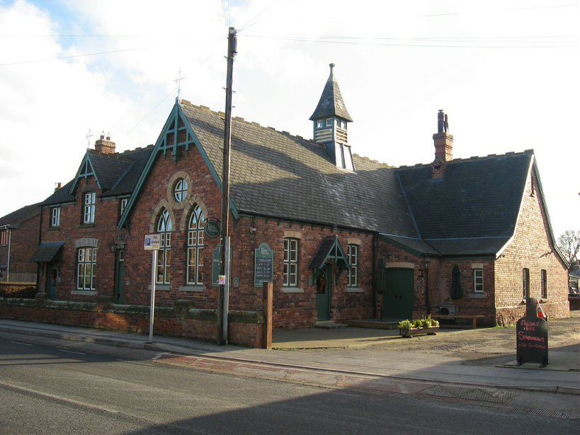 The old school house in Bubwith, now the home of the Jug & Bottle shop, Copyright 2008, Judith D. Taylor, with permission
